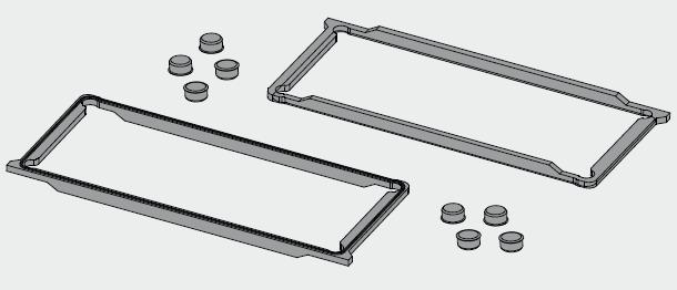 Kit guarnizioni in gomma (serie KG010) Rubber gasket kit (KG010series)