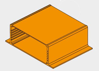 corpo contenitore -Aluminium case main body
